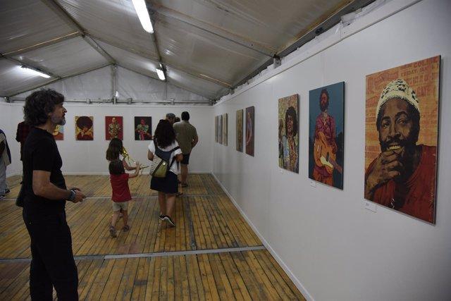 Inauguración de la exposición del artista Luis Alves.