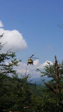 Rescate de una senderista en Etxalar