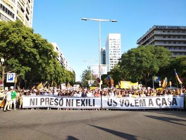 """Torra: """"Sortirem les vegades que faci falta per reclamar que els presos polítics siguin lliures"""" (EUROPA PRESS)"""