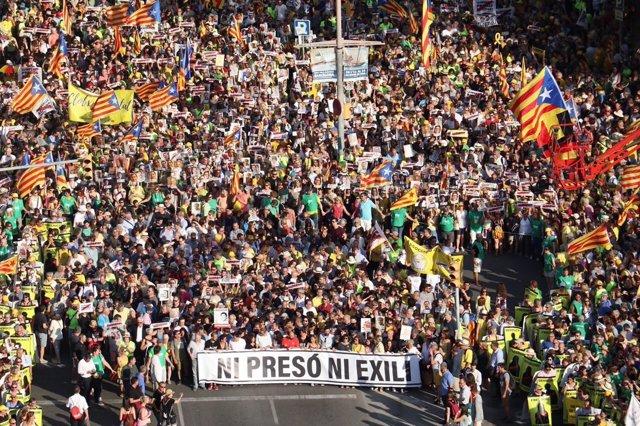 Manifestación por los presos soberanistas en Barcelona