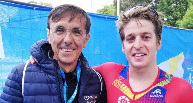 El español Pablo Dapena, campeón del mundo de triatlón larga distancia en Fyn