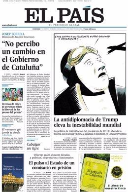 Portada de 'El País' del domingo 15 de julio