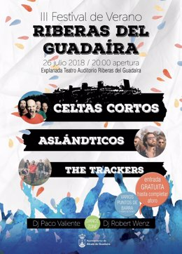 Cartel de concierto en Alcalá de Guadaíra