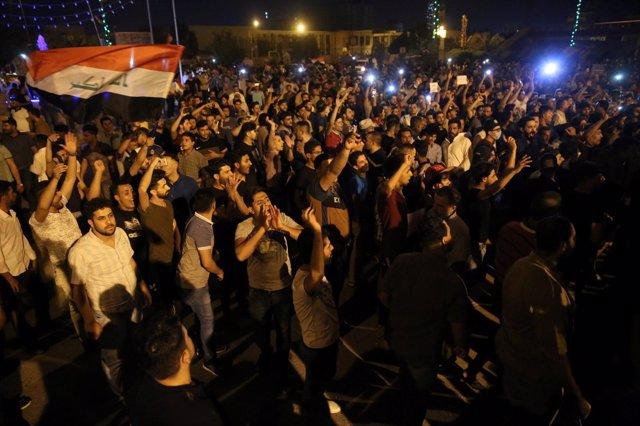Manifestación en Kerbala