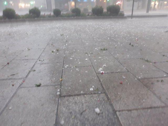 Granizo en Logroño