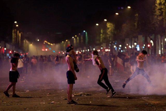 Disturbios en París tras la victoria de Francia en el Mundial de Rusia