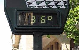 Termómetro de 36º en imagen de archivo