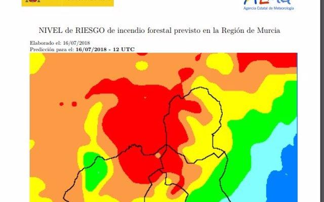 El riesgo de incendios forestales es muy alto este lunes en el Altiplano y el Noroeste