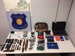 Dos detinguts per tres robatoris a domicilis de Catalunya (MOSSOS D'ESQUADRA)