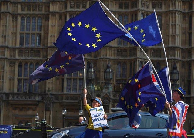 Manifestantes contra el Brexit en Londres