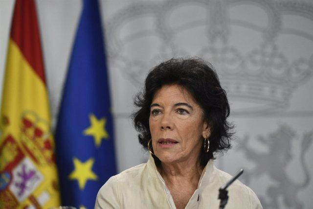 Rueda de prensa de la portavoz del Gobierno, Isabel Celaá