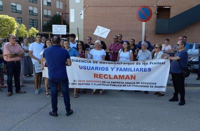 Manifestación de una residencia de Leganés