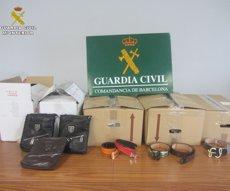 Intervenen 479 falsificacions valorades en 100.000 euros al Port de Barcelona (GUARDIA CIVIL)
