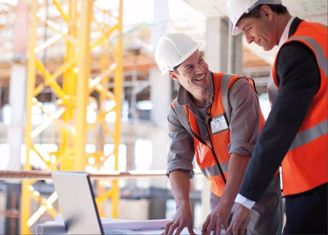 Trabajador, ingeniería, construcción, trabajo, empleo