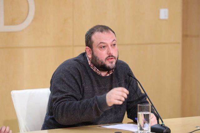 Guillermo Zapata en rueda de prensa
