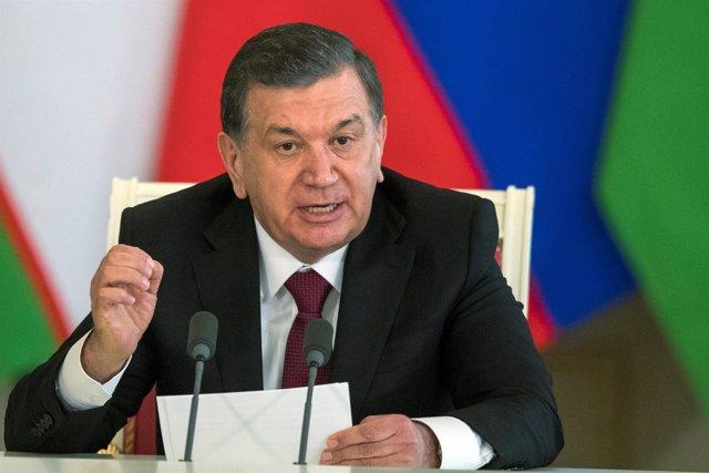 El presidente uzbeko, Shavkat Mirziyoyev