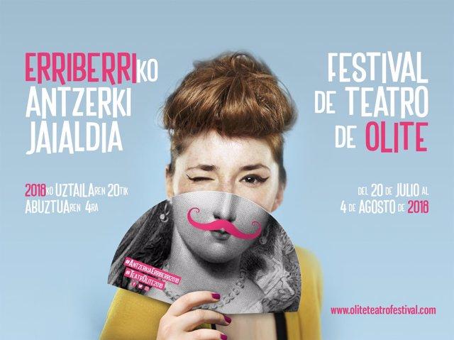 Cartel del festival de Olite.