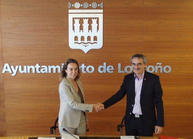 Gamarra y Rubio, tras firmar el convenio