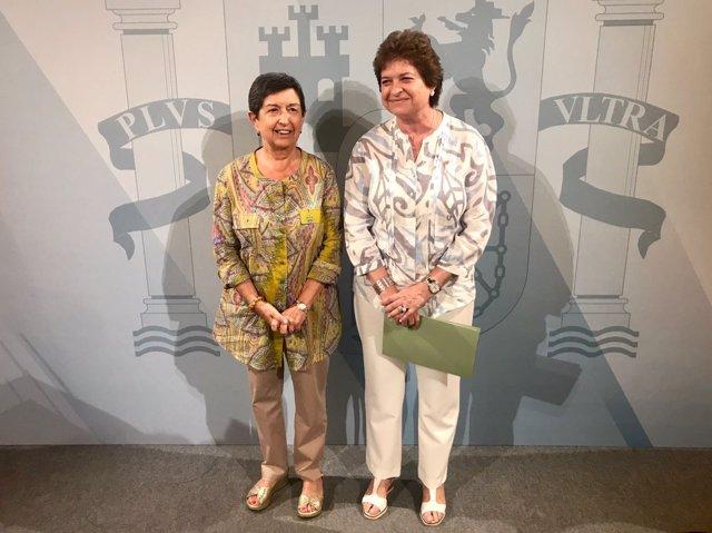 La delegada del Gobierno en Catalunya T.Cunillera y la subdelegada M.García