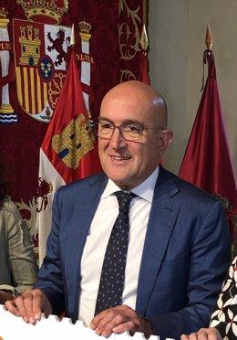 El presidente del PP de Valladolid, Jesús Julio Carnero, 16-7-18