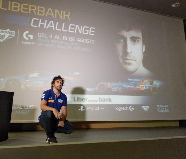 Fernando Alonso presenta la Liberbank Challenge.