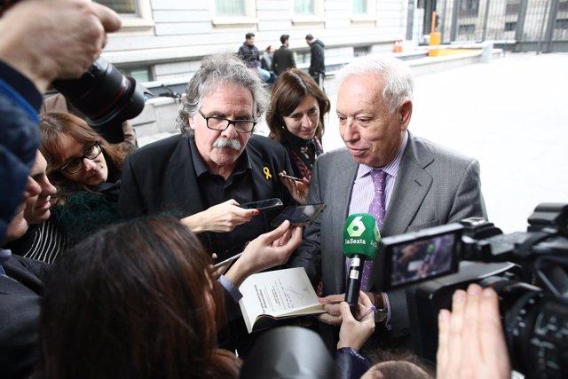 Joan Tardá y Margallo hablan en el Congreso