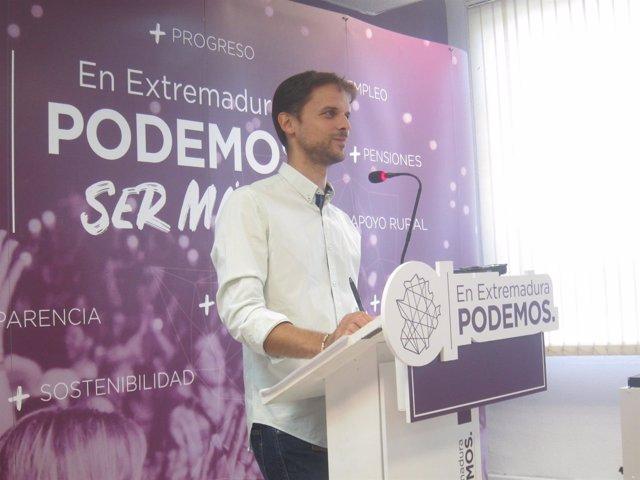 Secretario general de Podemos Extremadura, Álvaro Jaén