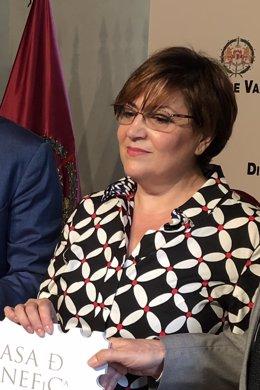 La subdelegada del Gobierno en Valladolid, Helena Caballero, 16-7-18