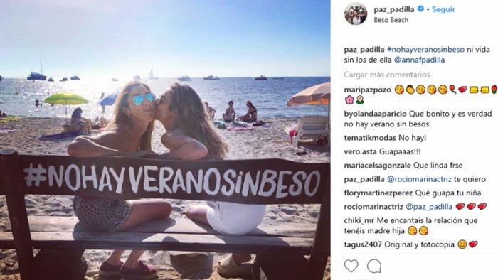 Paz Padilla y su hija de vacaciones en Formentera