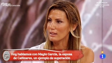 Mayte García, la mujer de Santiago Cañizares, manda un contundente mensaje tras la muerte de su hijo