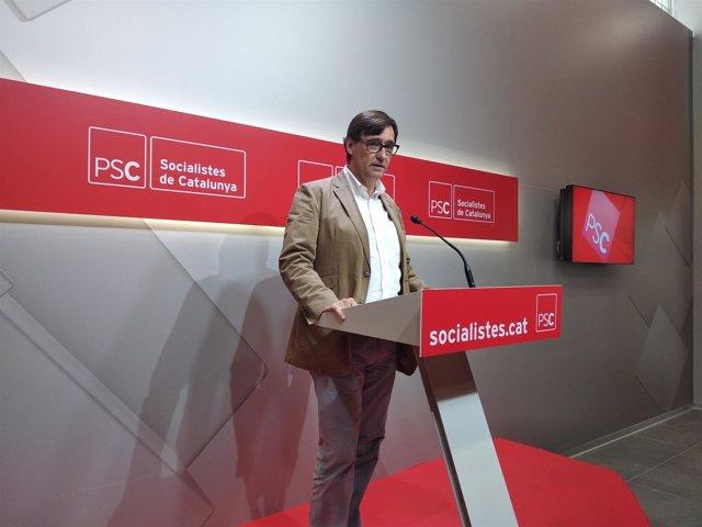 El secretario de Organización del PSC, Salvador Illa