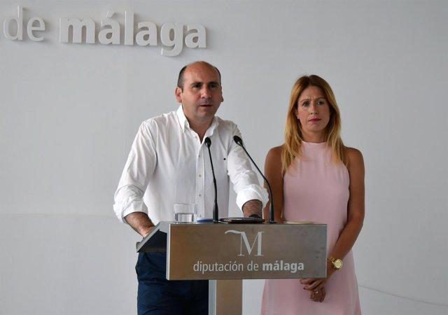 Francisco Conejo y Antonia García diputados provinciales diputación