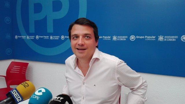 El portavoz municipal del PP y candidato a la Alcaldía, José María Bellido