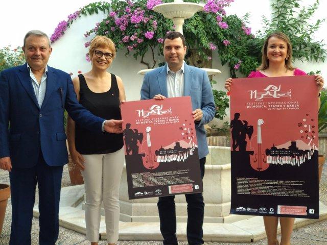 Ruz y Alcalde (izda.) presentan el 71º Festival Internacional de Priego