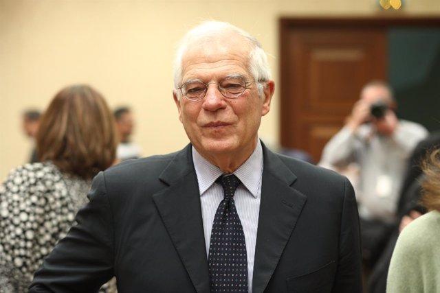 Borrell en una comparecencia parlamentaria