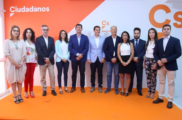 Rivera y Arrimadas en la presentación de los candidatos a las andaluzas