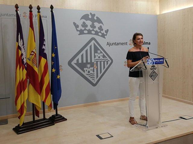 Margalida Durán, en rueda de prensa este lunes