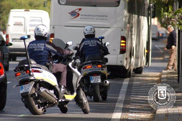 Motoristas de la Policía Municipal de Madrid