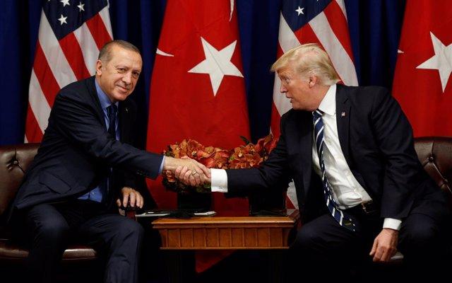 Recep Tayyip Erdogan y Donald Trump