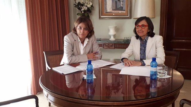 Reunión entre la ministra y la consejera de Justicia