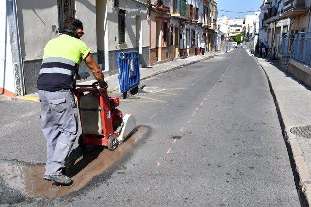 Obras en la calle Clara Campoamor