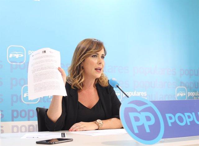Paz Velázquez (PP), en rueda de prensa