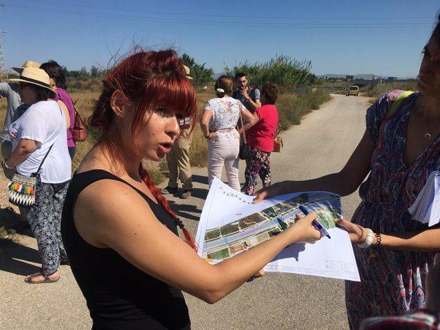 Visita la zona de la ampliación de la V-21 en Alboraia