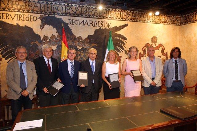 Muñoz con expertos sobre equipo redactor PGOU Marbella