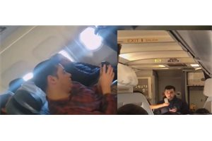 Emotivo momento en el que un argentino le pide matrimonio a su novio por la megafonía de un avión