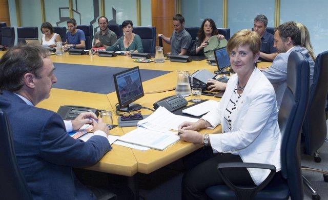 La consejera de Desarrollo Económico e Infraestructuras, Arantxa Tapia,