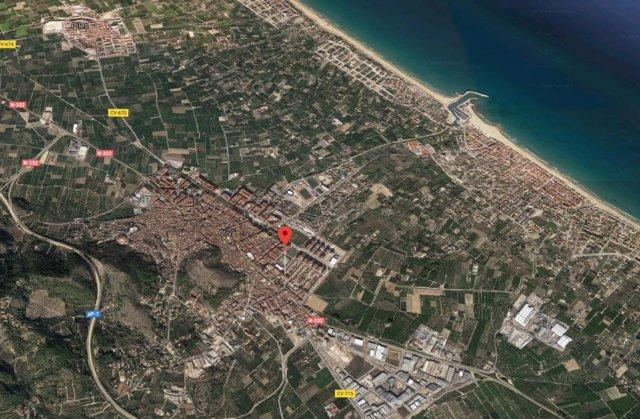 Localización de la calle Calixt III de Oliva (Valencia)
