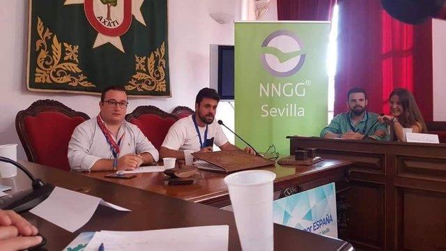 NNGG reunidas en el salón de Plenos de Lora del Río