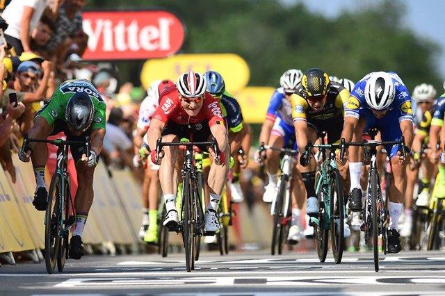 Final de la cuarta etapa del Tour de Francia 2018