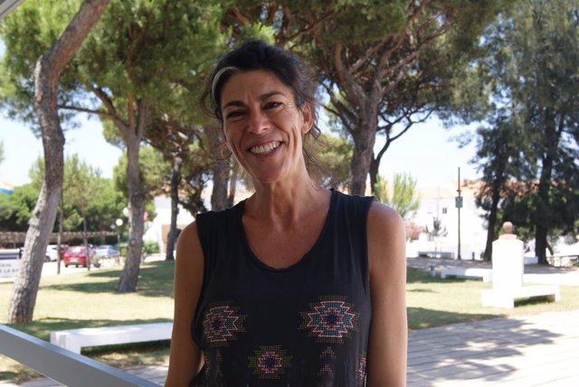 La experta en arteterapia Inmaculada Castro en los cursos de la UNIA